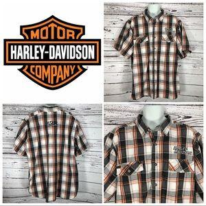 Harley Davidson Performance Button Up Shirt